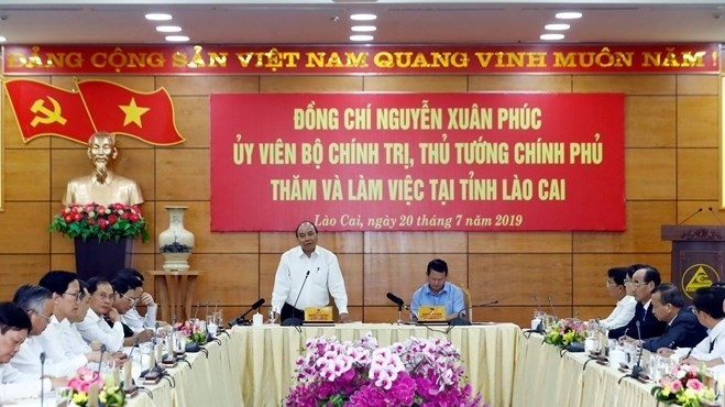 lao cai should strive to be among 15 developed localities nationwide pm