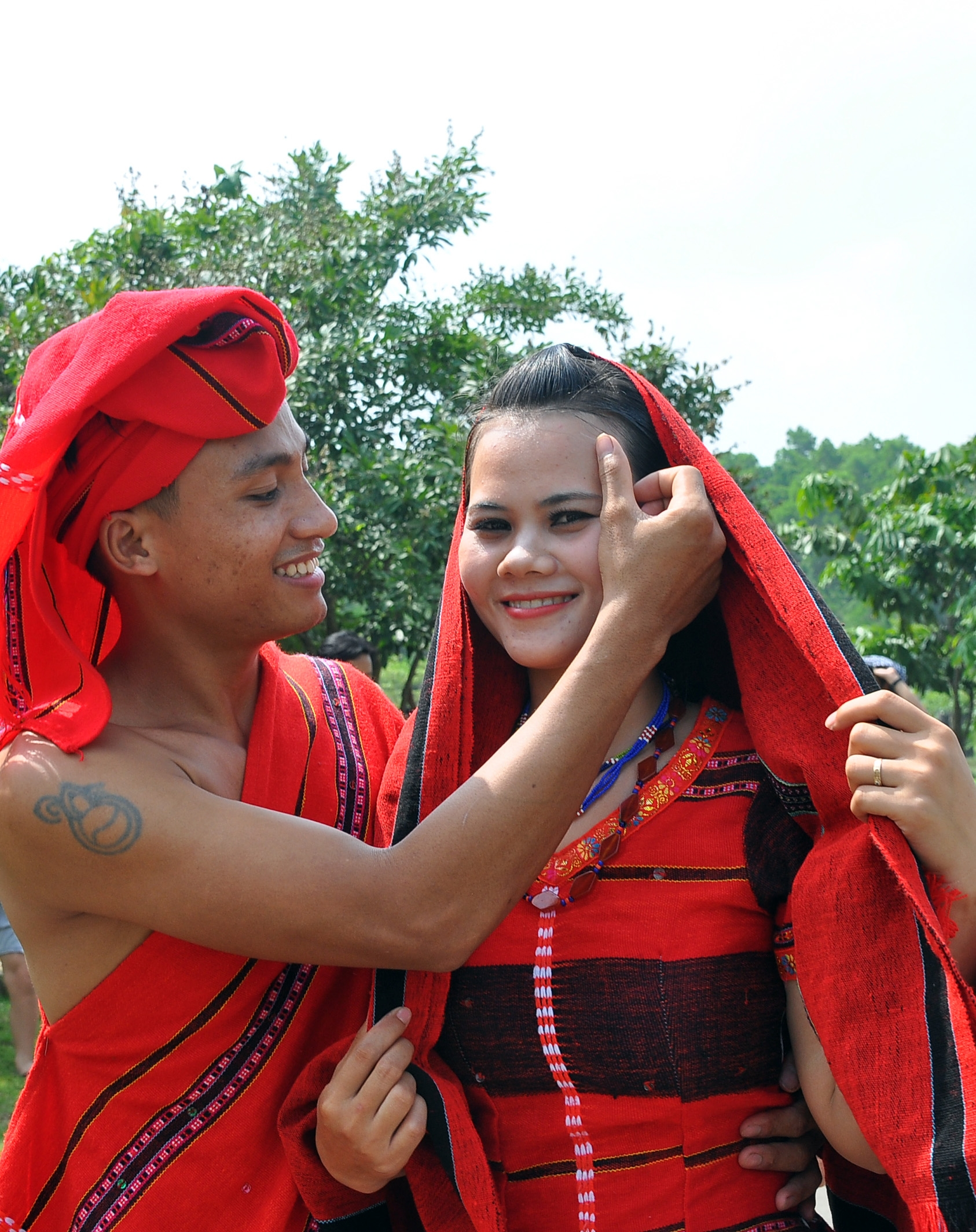 the traditional wedding ceremony of the pa co people