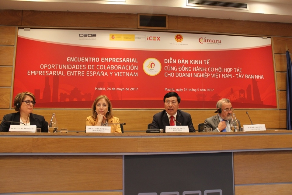 deputy pm chairs vietnam spain business forum