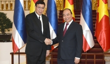 prime minister welcomes thailands top legislator