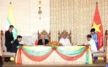 vietnam myanmar sign four cooperation documents