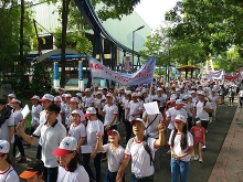 hcm city over 5000 walk for ao victims disabled