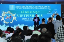 vietnam fisheries international exhibition opens in ho chi minh city