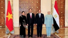 president tran dai quang holds talks with egyptian counterpart