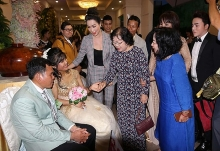 mass wedding held for couples with disabilities in hcm city