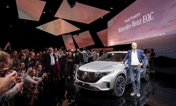 mercedes unveils electric car in direct german challenge to tesla