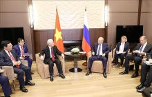 russia an important reliable partner of vietnam party leader