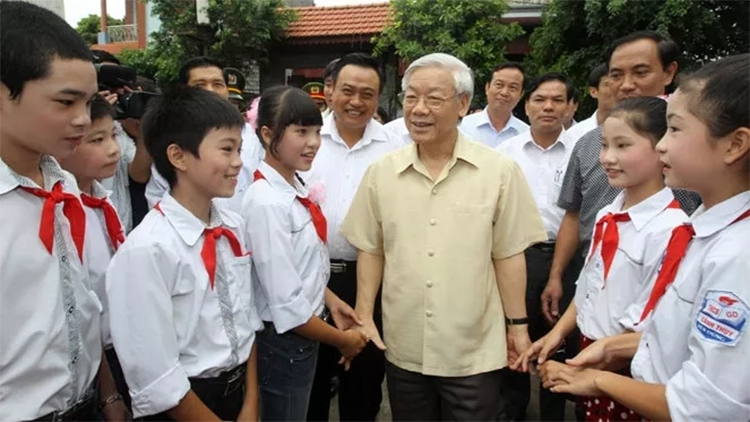 party chief sends mid autumn festival greetings to children nationwide