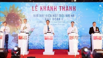 nhi ha solar power plant inaugurated in ninh thuan