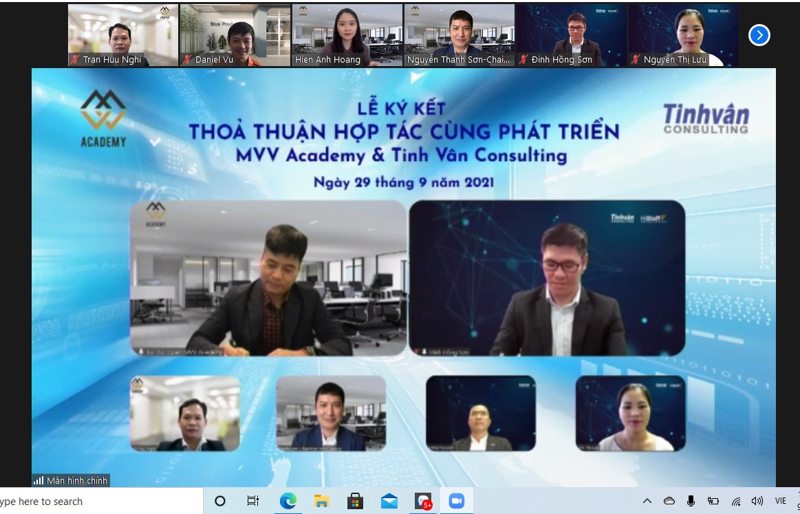 mvv academy vietnam and tinh van consulting sign cooperation agreement