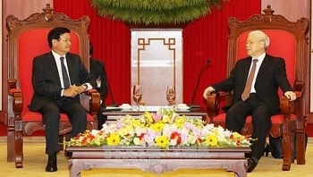 party chief requests stronger vietnam laos trade connectivity