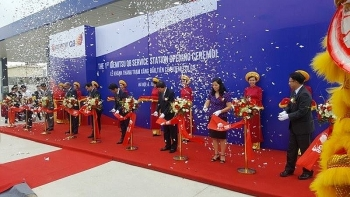 first foreign owned petrol station opened in hanoi