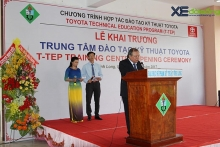 toyota technical training center opens in vinh long