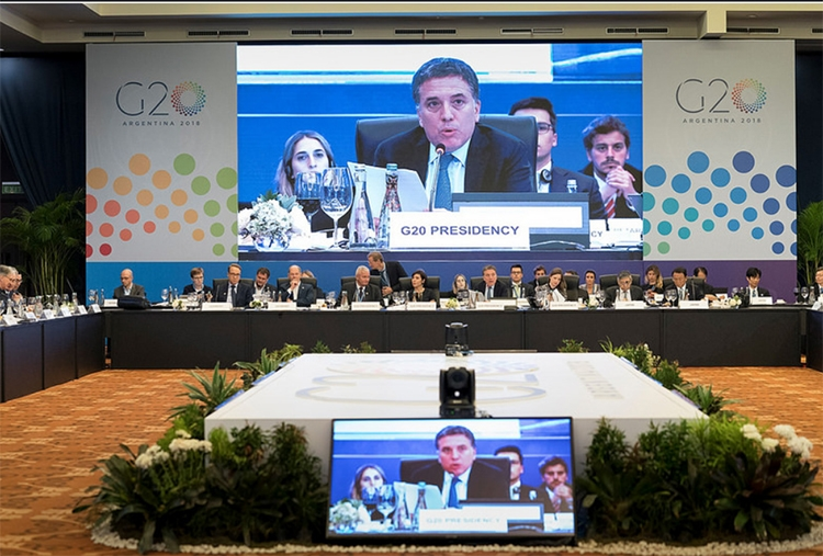 the g20 addresses risks to the global economy