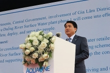 hanoi inaugurates factory using duong rivers surface water