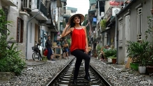 afp hanois colonial era railway becomes selfie hotspot