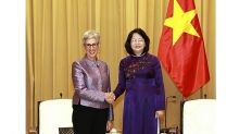 vietnam values strategic partnership with australia vice president