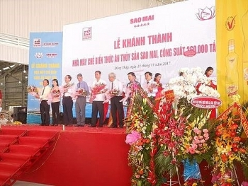 35 million usd aquatic feed plant opens in dong thap