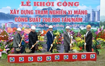 construction on cement grinding station begins in ha giang