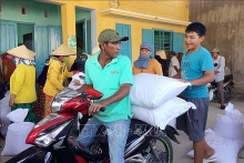 over 1100 tonnes of rice provided to locals in drought hit ninh thuan