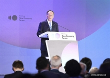 chinese vice president advocates common development at new economy forum