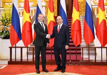 russian prime minister begins official visit to vietnam