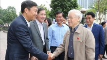 party chief president meets hanoi voters