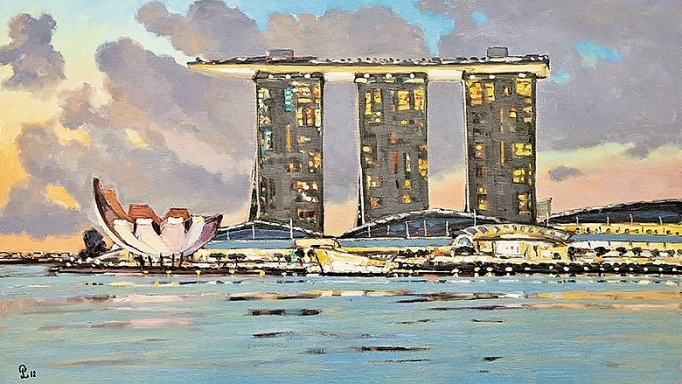 art exhibition celebrates 45th anniversary of vietnam singapore diplomatic ties