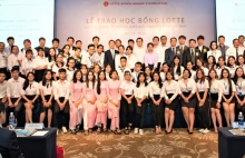 lotte awards scholarships to 60 students in hcmc