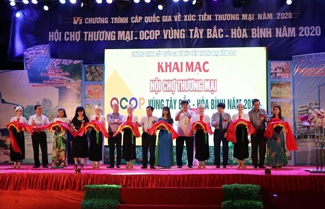 trade fair for northwest ocop products held in hoa binh