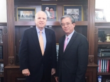 senator mccain vows to tighten vietnam us links