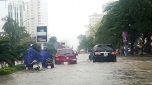 heavy rain causes flooding in central localities