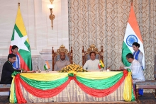 indian president expresses support for myanmar during state visit