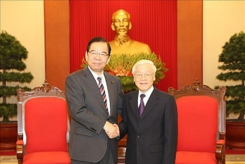 party chief hosts communist party of japan leader