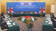 china japan and south korea trade chiefs vow to accelerate fta talks