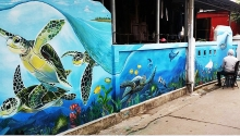 akzonobel paint vietnam accompanies fresco for the future project