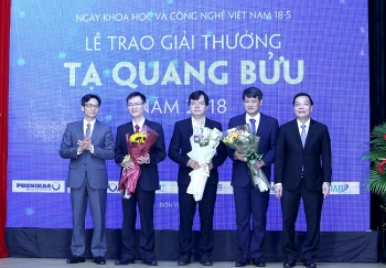 ta quang buu award bestowed on three scientists for basic research