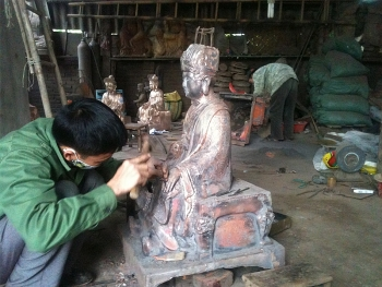 dai bai bronze casting village boosts mechanization