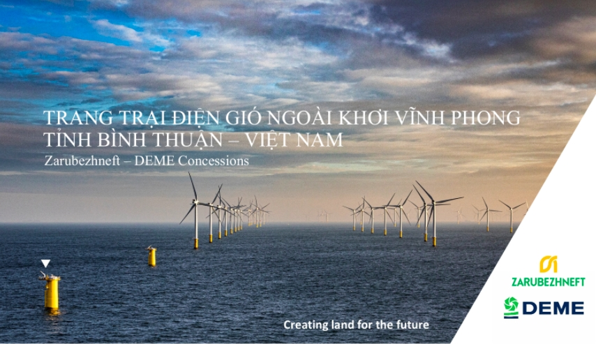 consortium of zarubezhneft jsc and deme concessions wind nv look forward to soon deployment of vinh phong offshore wind power project