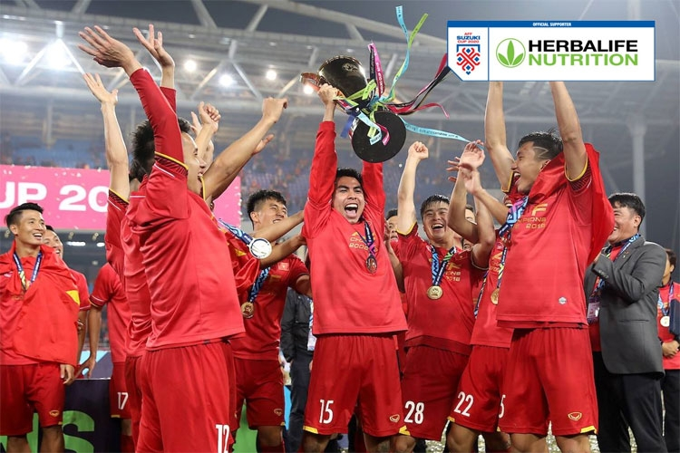 herbalife vietnam becomes a sponsor of the aff suzuki cup 2020