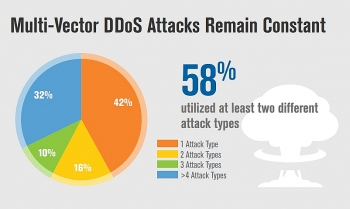 58 percent of ddos attacks employed multiple attack types