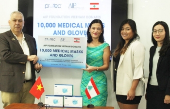 vietnam based charity donates 10000 masks and gloves to hospitals in beirut