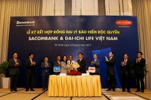 dai ichi life vietnam and sacombank enter into exclusive 20 year bancassurance partnership