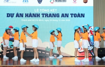 sector partners promote road safety awareness for children in vietnam