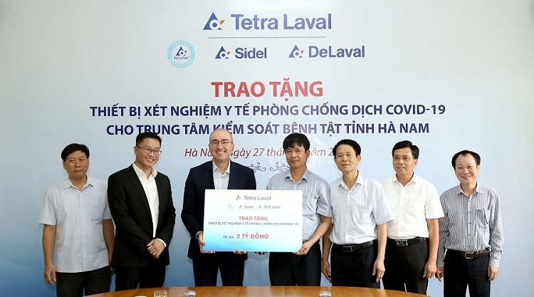 tetra laval group donates medical equipment worth 80000 euro to centre for disease control of ha nam province
