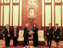 indonesian ambassador to vietnam ibnu hadi paid a farewell call to vice president of vietnam