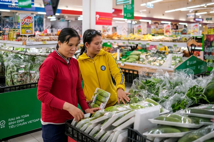 first safe vegetables brand la lanh launched in binh dinh