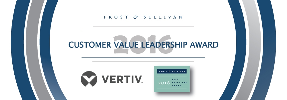 vertiv honored with the 2016 frost sullivan leadership award for its modular data center portfolio