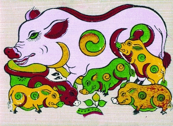 pigs in folk paintings reflect age old desire for prosperity luck