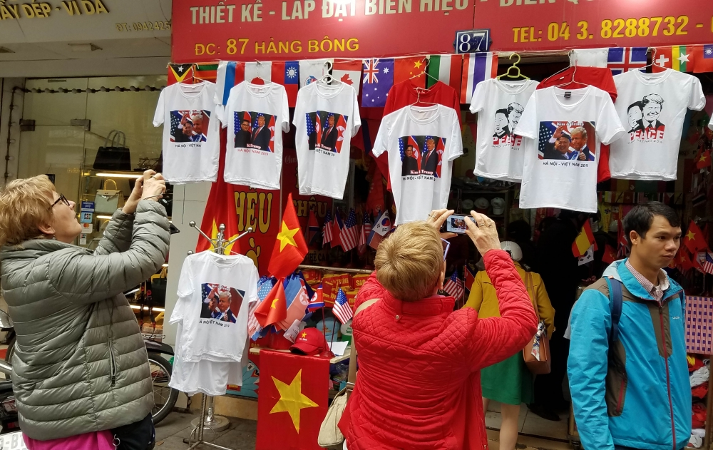 hanois merchants celebrate dprk usa summit